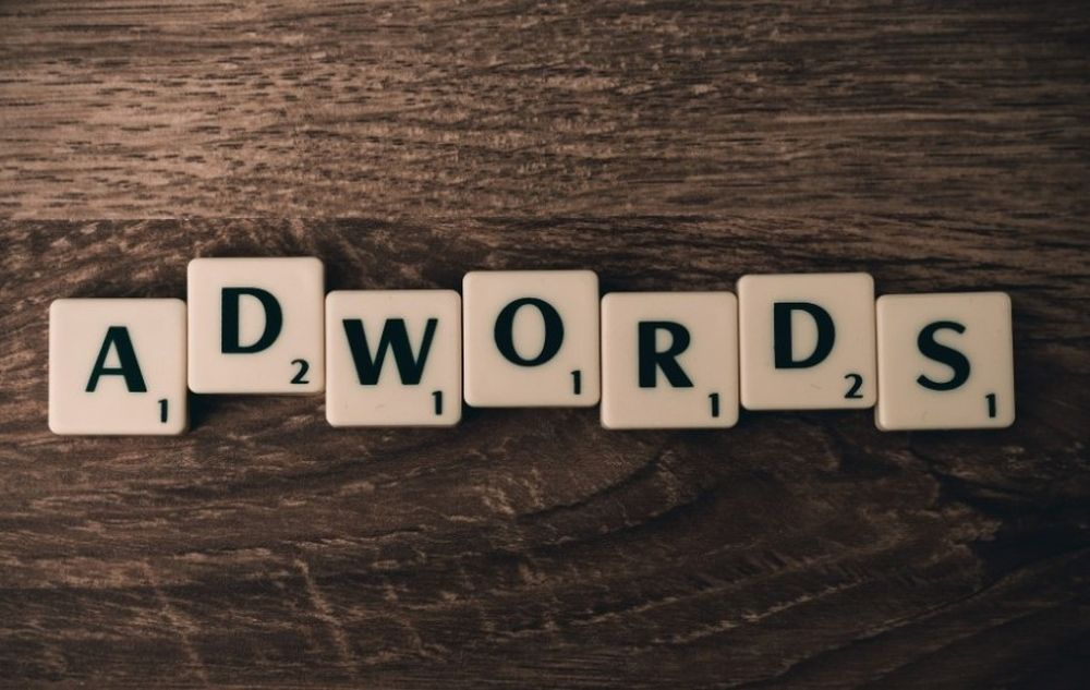 adwords with scrabble pieces